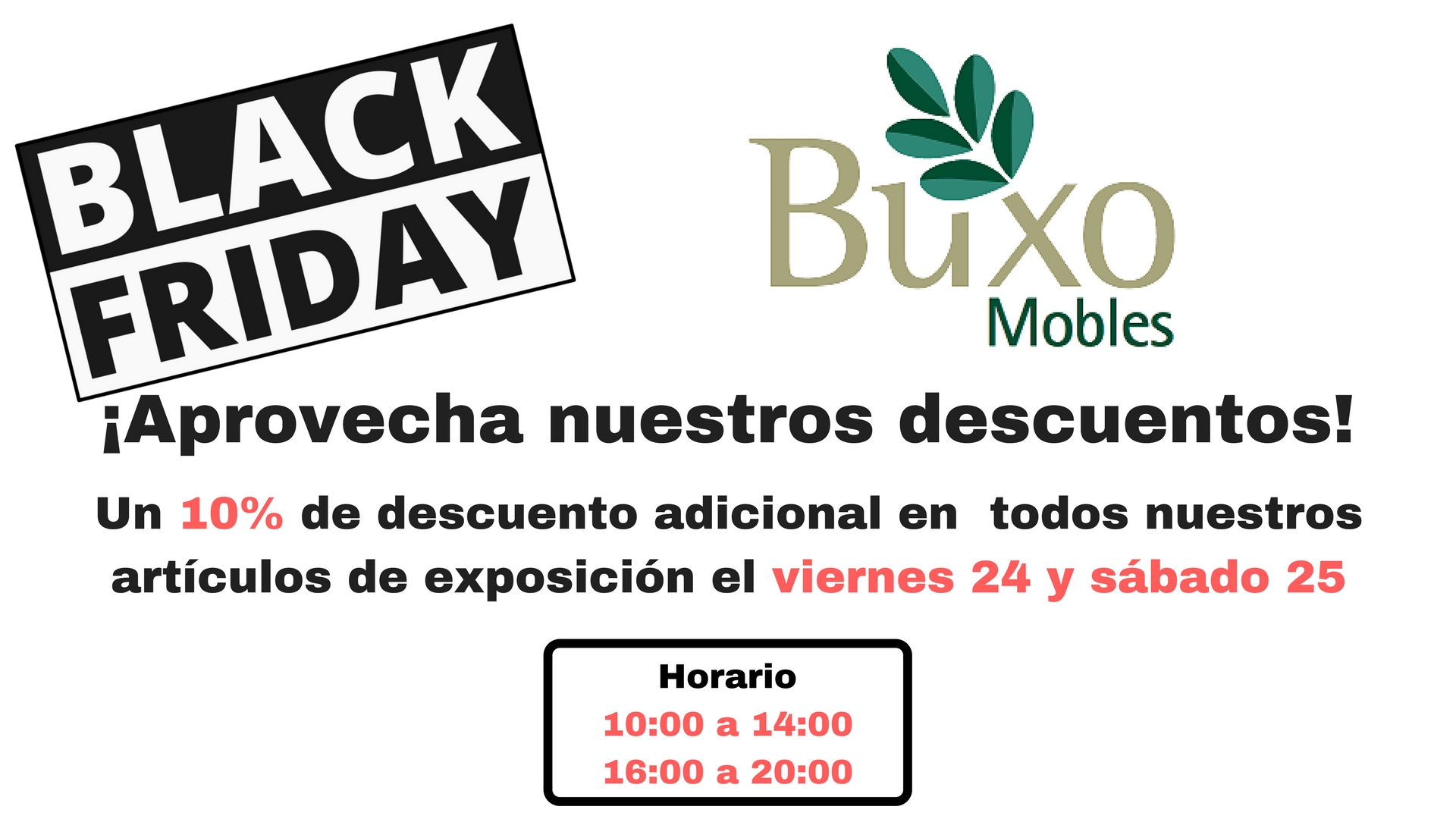 Black Friday en Mobles Buxo